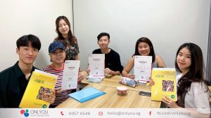 Students completed Korean beginner 2 class - onlyou korean language school