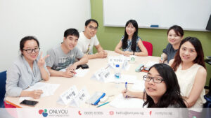 Korean class students - ONLYOU Korean Language School