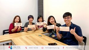 korean classes calligraphy activity in onlyou korean singapore