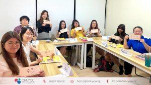 korean class calligraphy activity