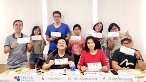 korean class activity calligraphy - onlyou korean language school