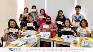 korean class calligraphy activity in singapore