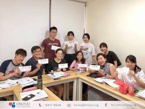 Korean class - calligraphy activity