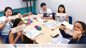 ONLYOU Korean calligraphy activity