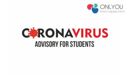 CORONAVIRUS ADVISORY FOR STUDENTS